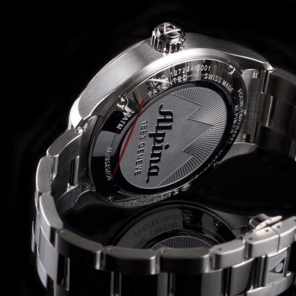 Photo of Alpina horological steel smartwatch with black dial