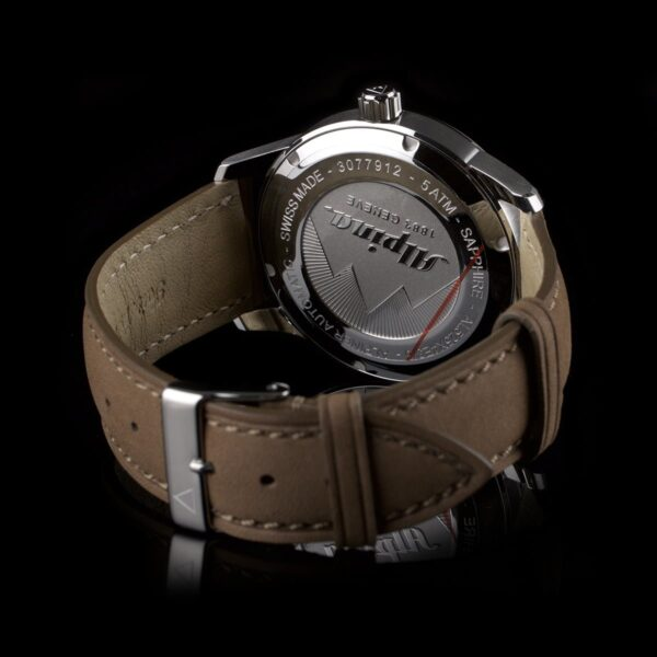 Photo of Alpina men's watch Alpiner Sunray with automatic date and navy blue dial