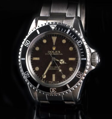 Foto af 1965 Rolex Submariner 5513 Tropical Bart Simpson Gilt Dial