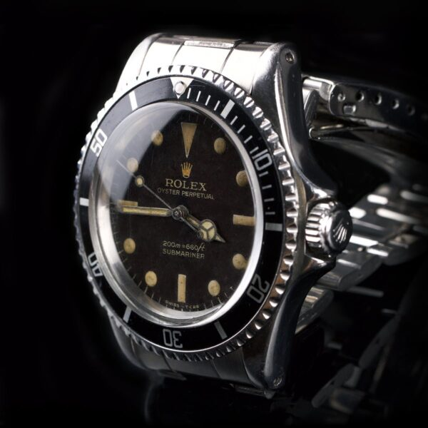 Photo of 1965 Rolex Submariner 5513 Tropical Bart Simpson Gilt Dial
