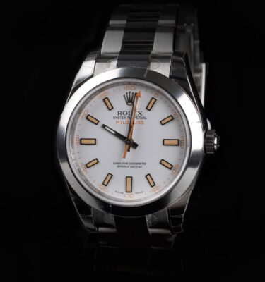 Photo of NOS Rolex Milgauss 116400 White Dial