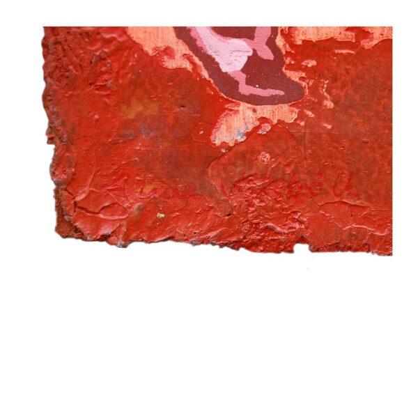 Photo of Anne Vilsbøll silkscreen on canvas sack - dance red