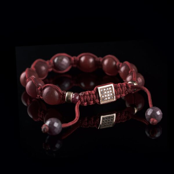 Photo of ruby and rose gold bracelet bracelet
