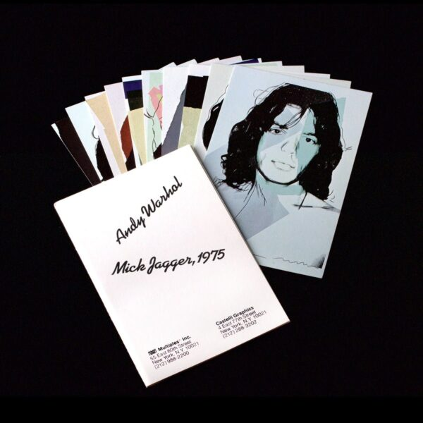 Photo of Andy Warhol invitation cards