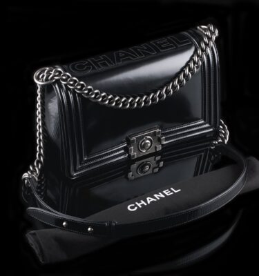 Photo of Chanel Boy Medium Black Calfskin Ruthenium Hardware