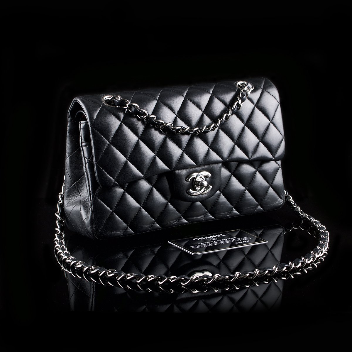89f2c198cfe SOLD! Chanel 2.55 Timeless Classic Flap Small Black Lambskin ...