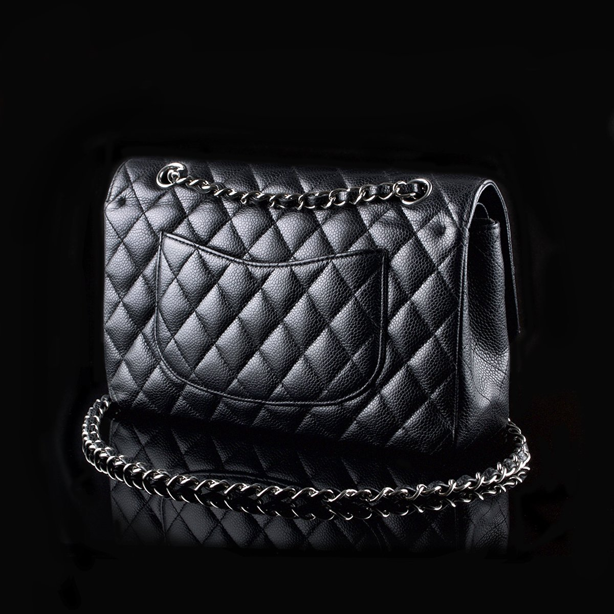 82a2818a971807 Chanel 2.55 Timeless Classic Flap Medium Black Caviar - Classic390