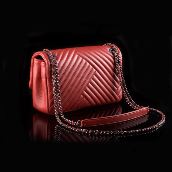 Photo of Chanel Chevron Asymmetric Red Cross Body