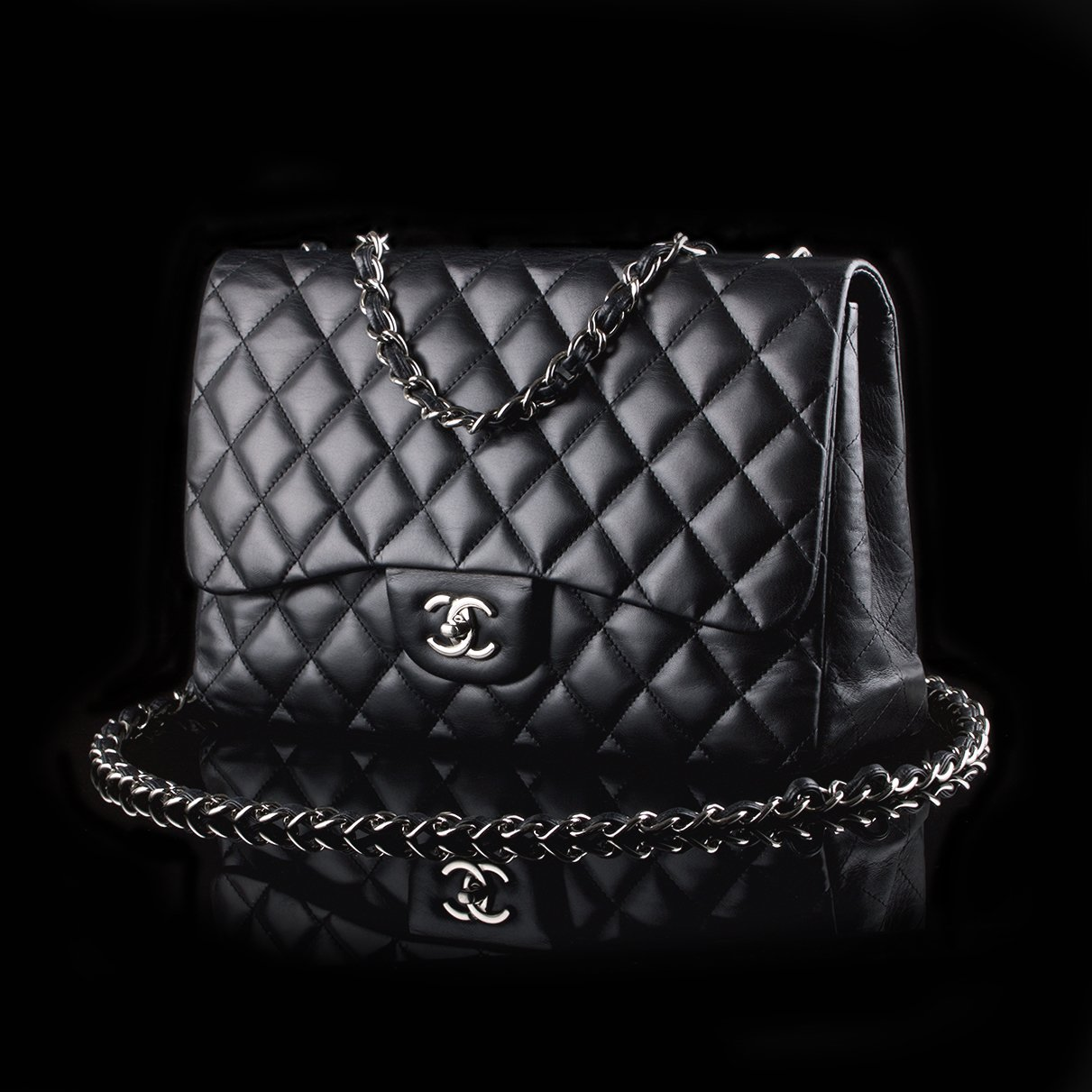 76bb5a876d25de Chanel Jumbo Classic Flap Black Lambskin Silver Hardware. 🔍. Photo of Chanel  Jumbo Timeless 2.55 Black