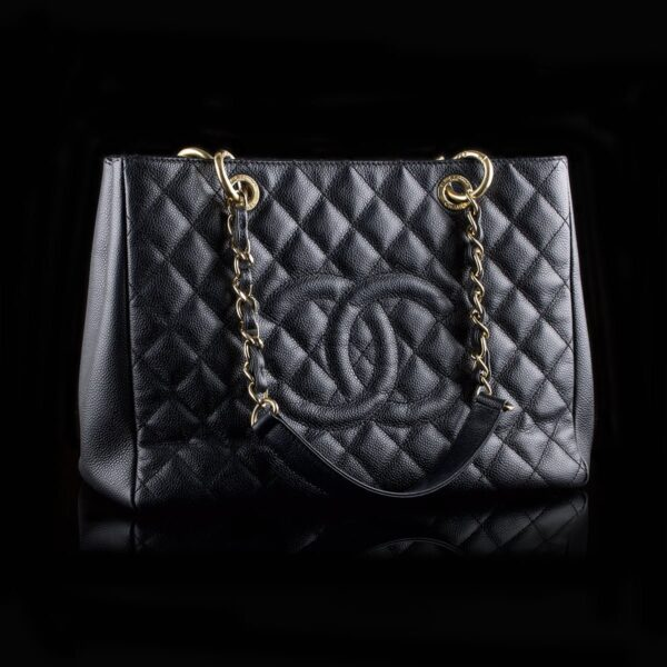 Photo of Chanel GST Black Caviar Golden Hardware