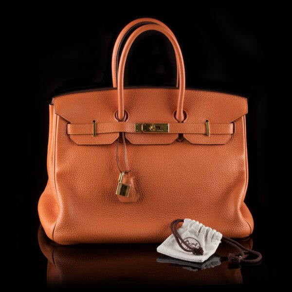 Photo of Hermès handbag orange Birkin 35