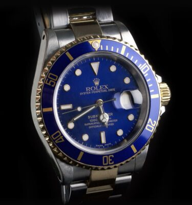 Foto af Rolex Submariner 16613LB Gold And Steel Sunburst Dial