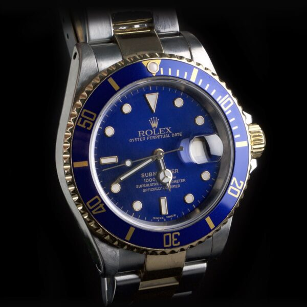 Photo of Rolex Submariner 16613LB Gold And Steel Sunburst Dial