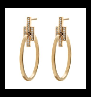 Photo of Brigade Diamond Hoops Earrings