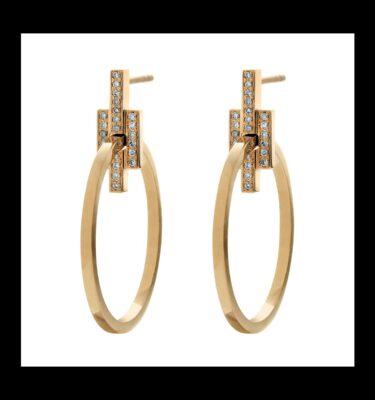 Photo of Brigade Diamond Hoops Earrings