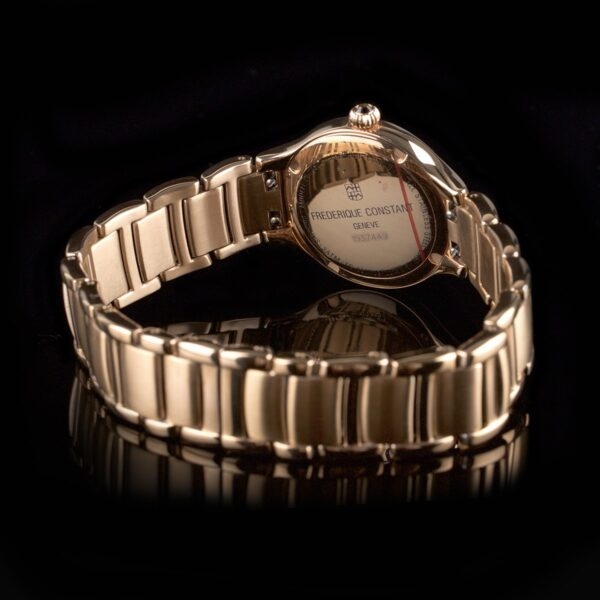 Photo of rose gold plated ladies watch by Frederique Constant