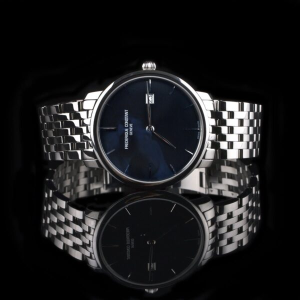 Photo of Frederique Constant steel watch with dark blue dial
