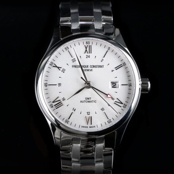 Photo of Frederique Constant steel watch with white dial