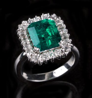 Photo of an emerald ring