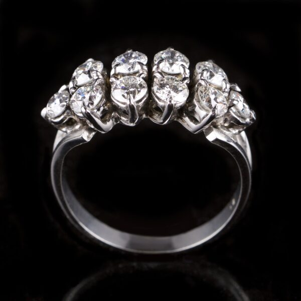 Photo of double row diamond ring