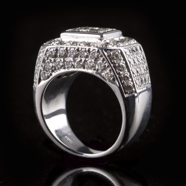 Photo of square diamond ring