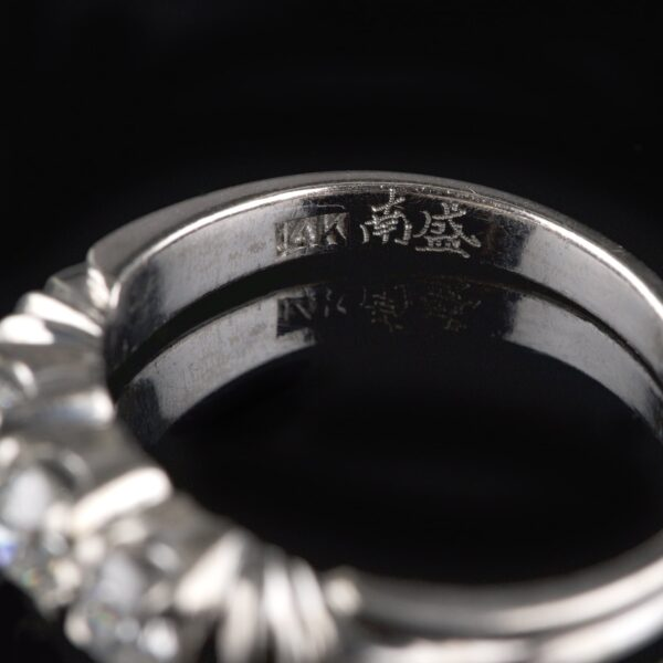 Photo of alliance ring with 3 diamonds 0.50 ct