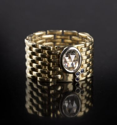Photo of a braided gold ring