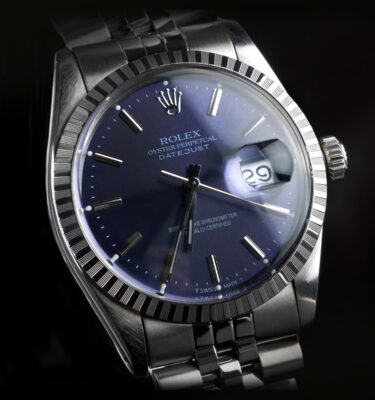 Photo of Rolex Mens Watch Datejust 16030 steel blue dial