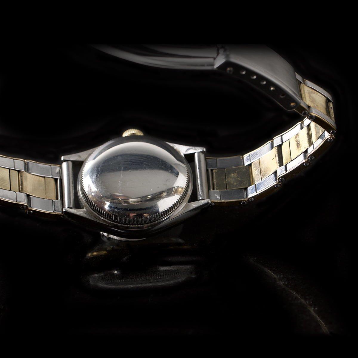 Super rare two tone Rolex Bubbleback 5006