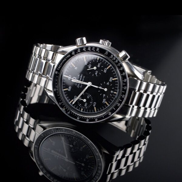 Photo of Mens watch Omega Speedmaster Automatic Reduced steel black dial