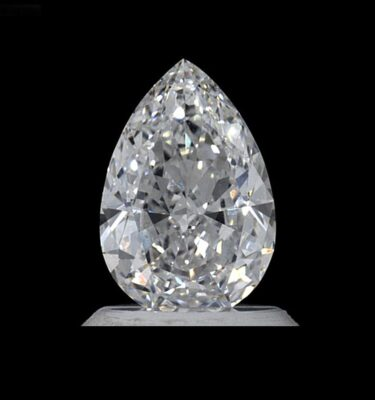 Photo of pear shaped diamond 1.11 Carat