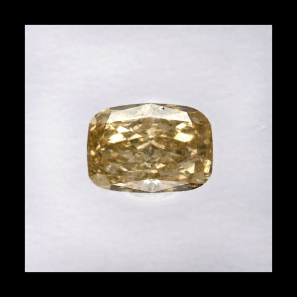 Photo of diamond cushion fancy yellowish brown