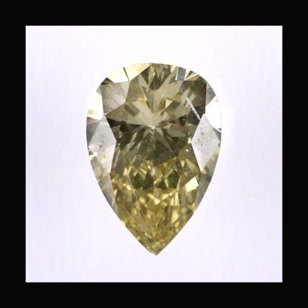Photo of diamond pear fancy greenish brownish