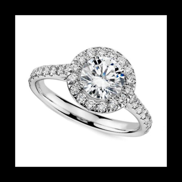 Photo of Diamond Halo Ring 1ct white gold