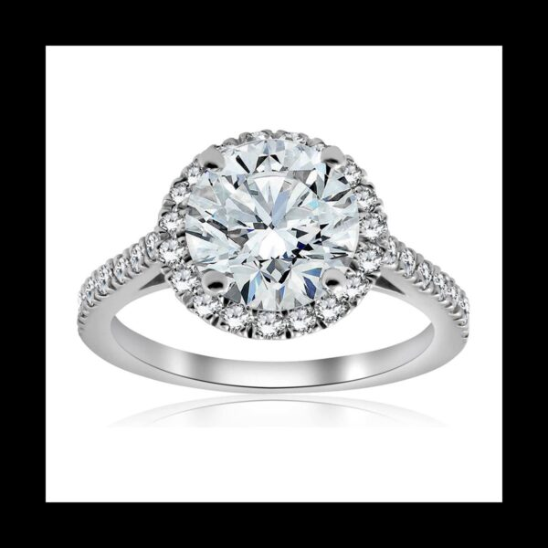 Photo of Diamond Halo Ring 2ct white gold