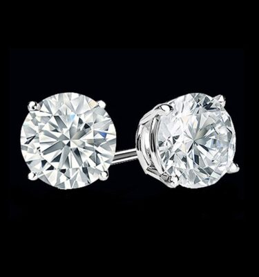 Photo of Diamond Solitaire Earrings white gold