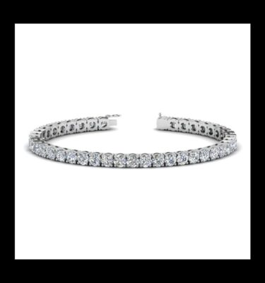 Photo of diamond tennis bracelet 10ct white gold