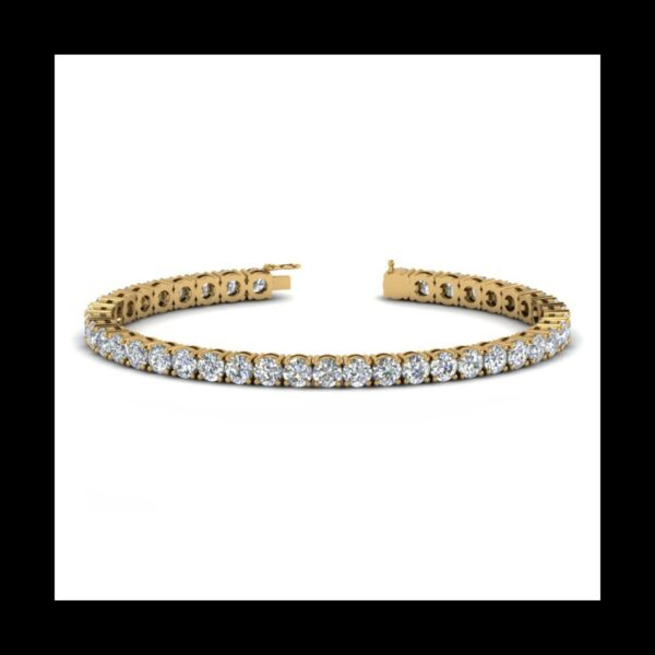 Photo of Diamond Tennis bracelet 10ct yellow gold