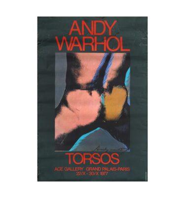 Foto af Andy Warhol Signeret Plakat Torsos 1977