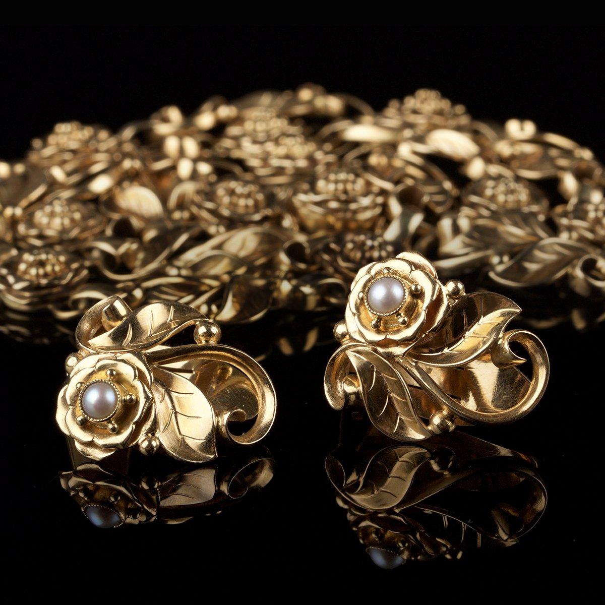 Photo of Georg Jensen pearl jewelry set