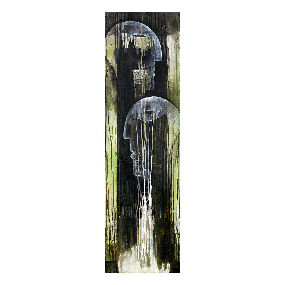 Photo of Painting by Terese Andersen, 140x40, title; Growing